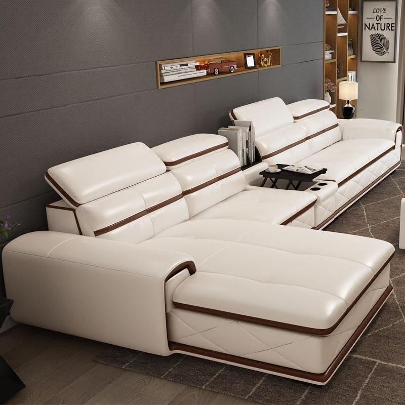 €1355.02 |2014 nouveau dubai meubles sectionnel de luxe et moderne coin en  cuir salon arabe en forme de l 1 2 3 canapé design et prix ensemble-in ...
