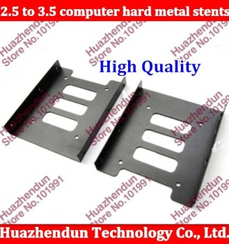 10pcs/lot High Quality NEW 2.5 to 3.5 computer hard metal stents with screws free shipping SSD holder Free shipping