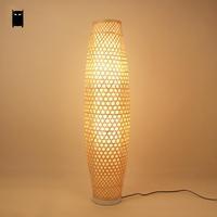 Bamboo Wicker Rattan Shade Vase Floor Lamp Fixture Rustic Asian Japanese Nordic Art Light Abajur Luminaria Fitting Luminaire