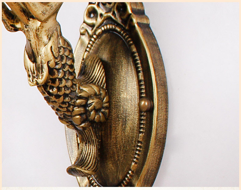 Vintage led baroque tiffany shell applique murale fait à la main