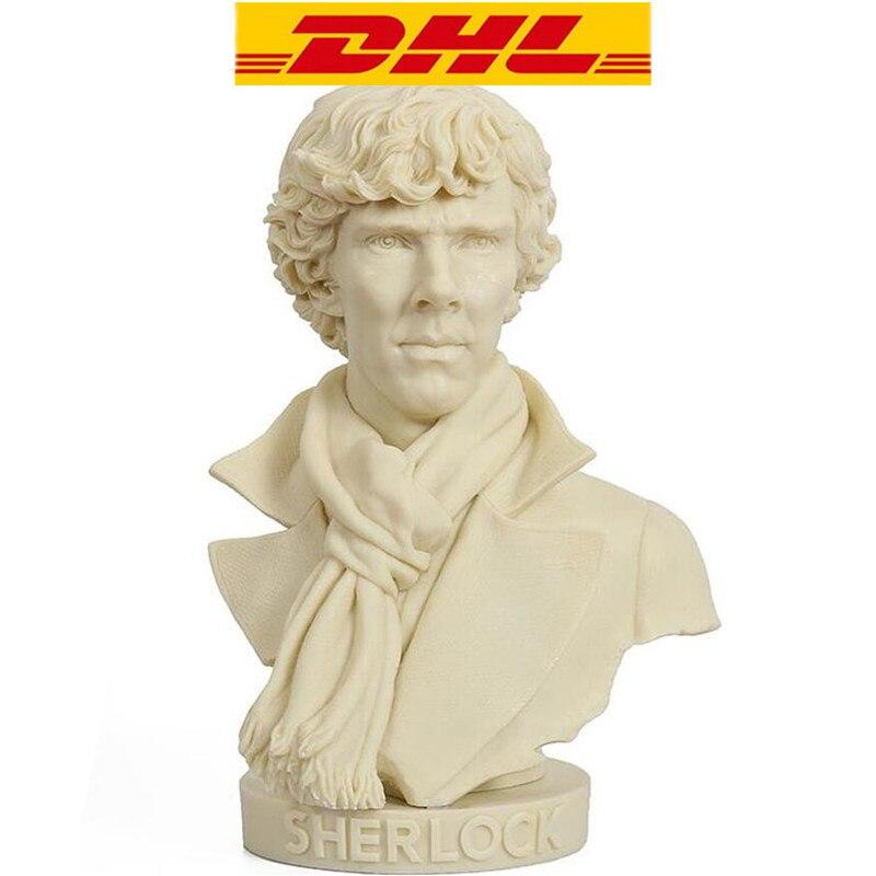 Sherlock Holmes Holmes Around Sherlock Holmes Hands On A Bronze Bust Like A Spot Statue Superhero Imitation Copper ModeT93