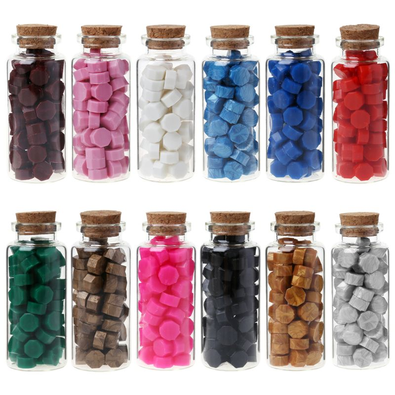 65pcs Sealing Wax Octagon Beads For Retro Seal Stamp Multicolor Wedding Envelope Invitation Card DIY Decor