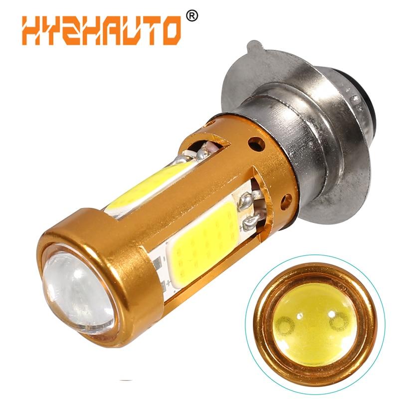 1 шт. H6M PX15D светодиодная мото лампа P15D светодиодная мотоциклетная фара Hi-Lo луч Мотоцикл Скутер ATV светодиодные фары Противотуманные фары белый 12-80 в