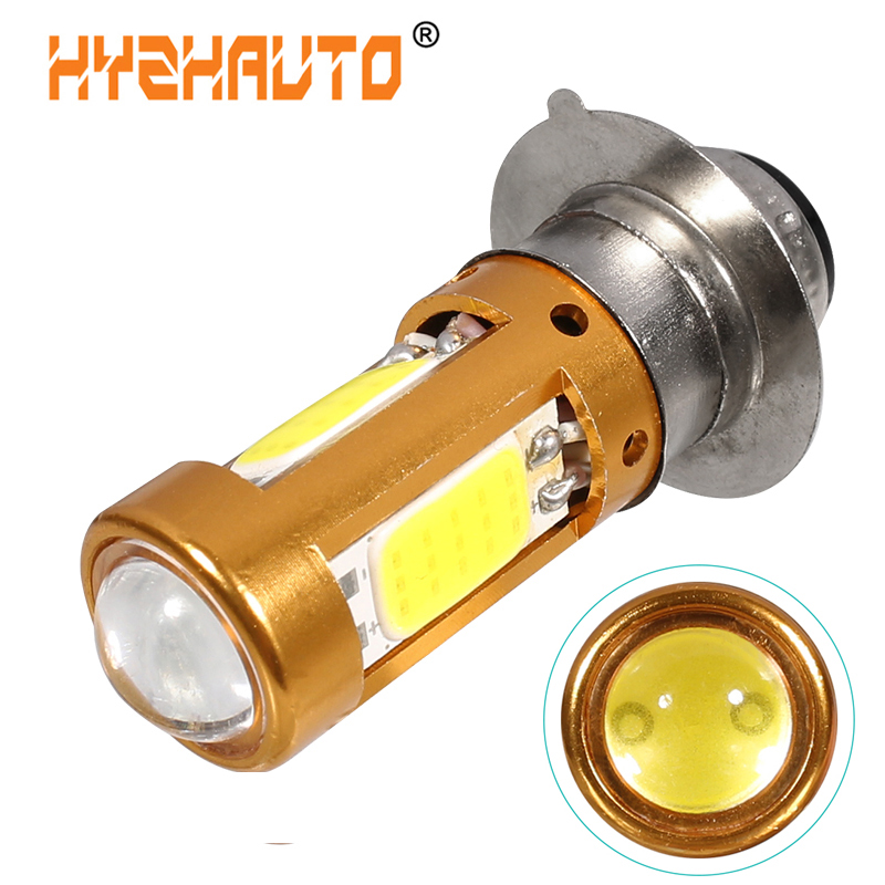 1Pcs H6M PX15D LED Moto Bulb P15D LED Motorcycle Headlight Hi-Lo Beam Motorbike Scooter ATV LED HeadLamp Fog Light White 12-80V