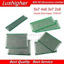 4 шт.* 1 PCB Kit Diy 5x7 4x6 3x7 2x8 см 5*7 4*6 3*7 2*8 двухсторонний медный Прототип Pcb универсальная плата