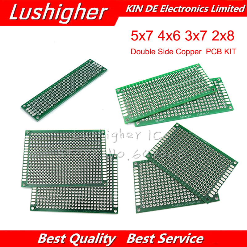 4pcs*1 PCB Kit Diy 5x7 4x6 3x7 2x8 Cm 5*7 4*6 3*7 2*8 Double Side Copper Prototype Pcb Universal Board