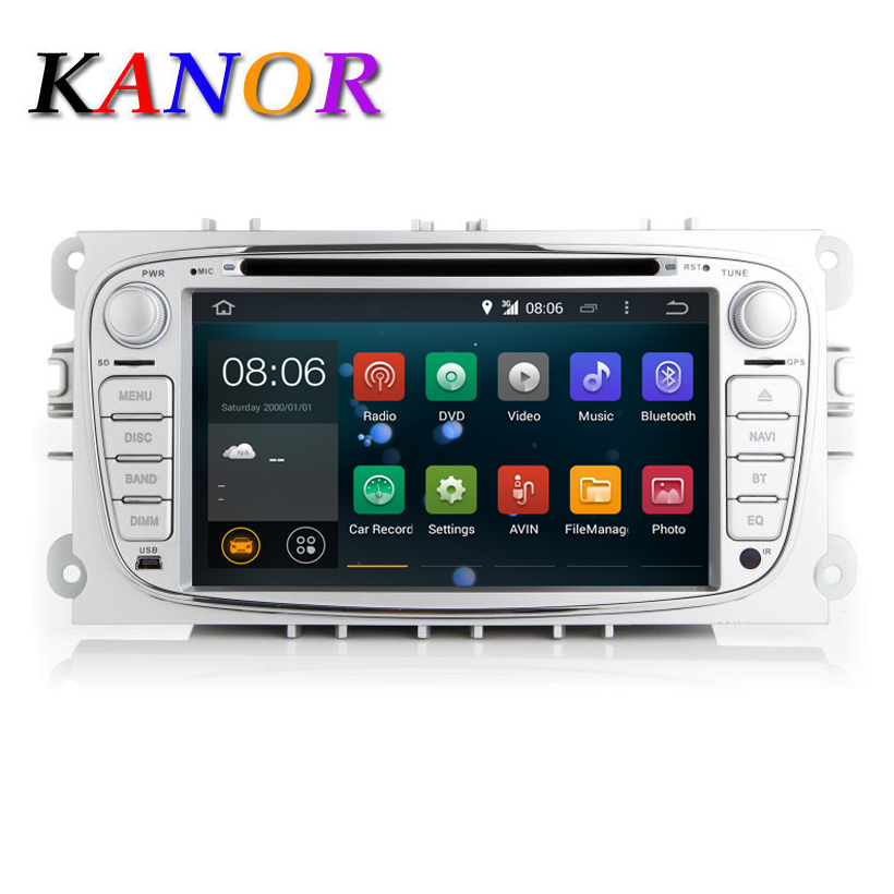 KANOR 1024*600 Android 7.1 2din Car Radio For Ford Focus 2 Mondeo S-Max 2009 2010 2011 Autoradio Multimedia Audio Stereo