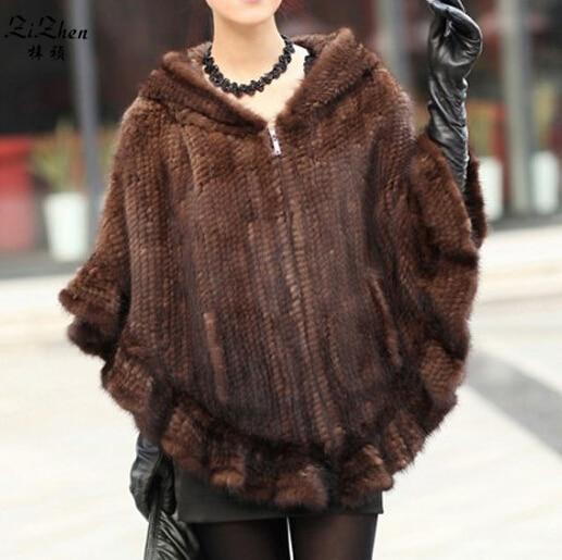Női téli kabátok valódi természetes minskőrzőszőr köpeny - Női ruházat
