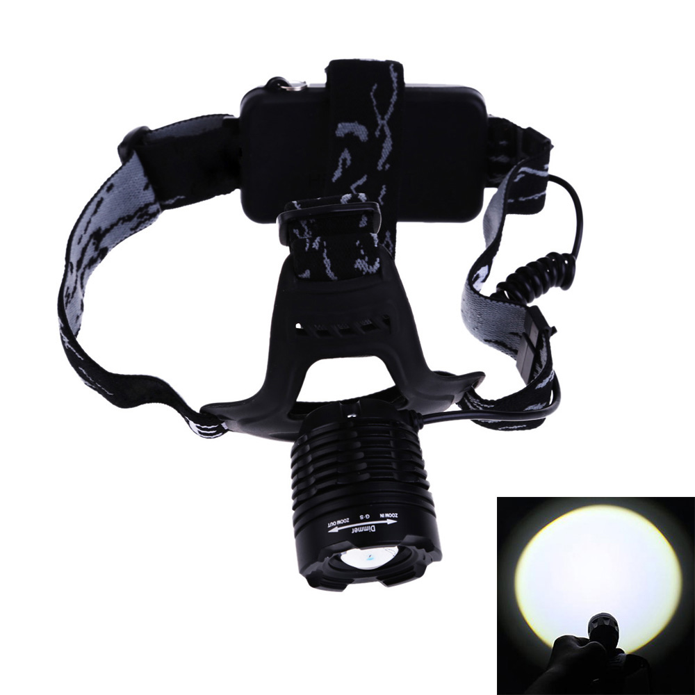 Wholesale Rechargeable Bicycle Lights Headlight Focus Adjustable Zoom 3-Mode LED Headlamp 1000LM for Camping Hiking Cycling high quality 2 mode power 5w led headlight 48000lx outdoor fishing headlamp rechargeable hunting cap light
