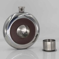 1 pcs Personalized 5oz Hip Flask Stainless steel liquor alcohol whiskey flagon cup new black brown portable 5 ounce wine pot jug