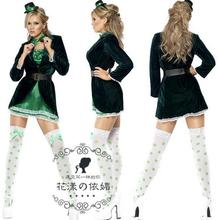 Sexy Costumes Women Halloween Maid Dress 5 Pieces Sets Long Sleeves Carnival Outfit Trajes De Halloween Para As Mulheres WL19