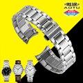 Auto correa de acero inoxidable de 20mm extremo curvo de metal pulsera venda de reloj para longines master collection l2 + herramientas gratuitas