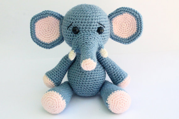 Beroemd Olifant Amigurumi Olifant Haak Gebreide knuffels pop speelgoed #XV45