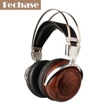 Techase lujo diadema auricular de alta fidelidad auriculares música deportes bass gaming headset fone de ouvido subwoofer de madera pk bluedio