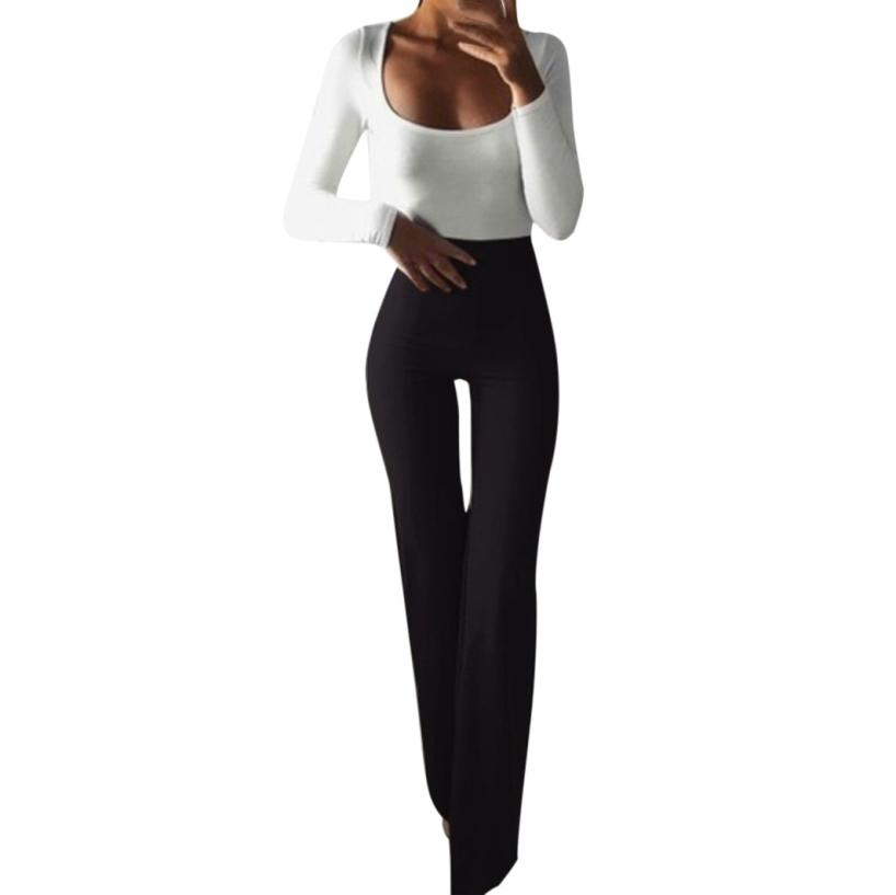 MIARHB 2019 NEW Fashion Women Sexy Casual Solid Elasticity Leggings Bell-bottoms High Skinny Pants Wholesale Freeship N4