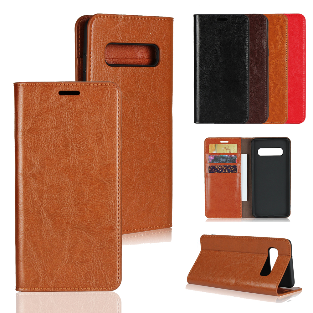 For Samsung S10 5G Case Original Business Genuine Leather Protect Cover for Galaxy Plus Lite S9 S8