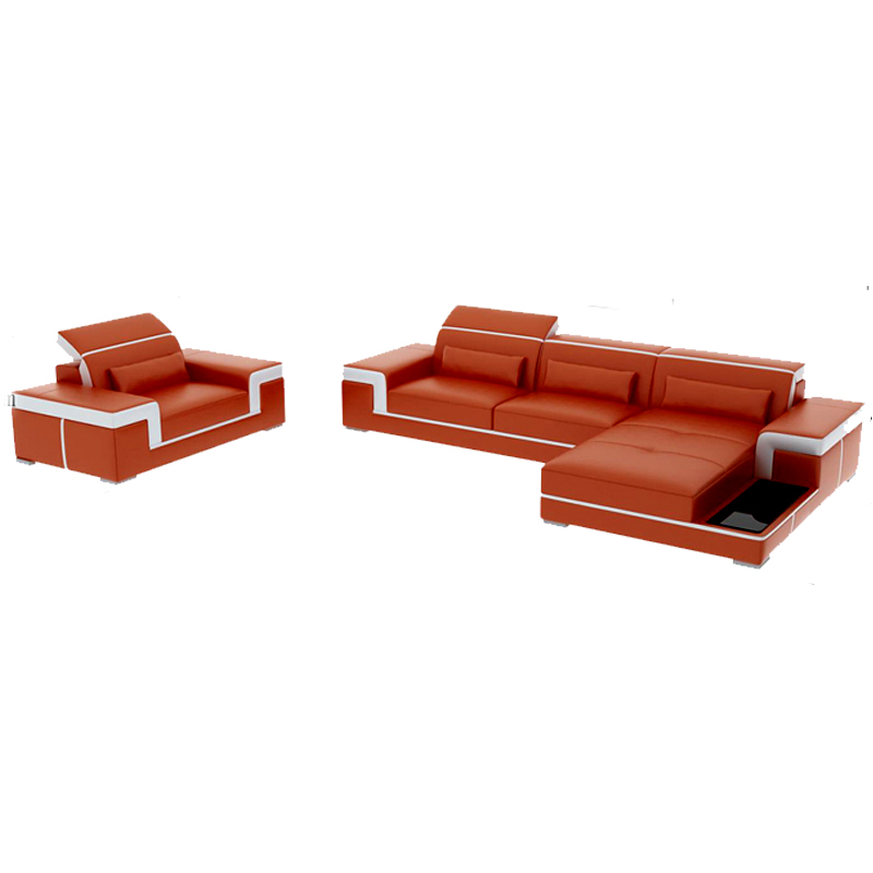 Contemporary Home Furniture Leather Sofa Sets In Living