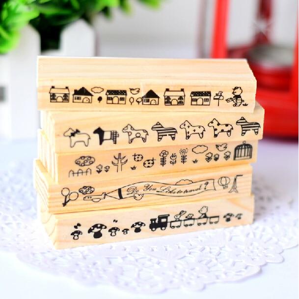 Mooie Houten Stempels.Us 13 2 19 Off Mooie Dieren Vintage Houten Stempel Diy Foto Kaart Decoratie Craft Houten Siliconen Stempel Koreaanse Briefpapier 5 Stks Sk774 In