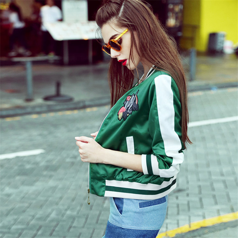Ricamato Formato Di Verde Molla Modo Della Fiori collo Cappotto Uniforme Il Green Donne Del Hd244 Più Femminile Jacke Baseball 2018 Nuovo Allentato Autunno red O b6gyYf7v
