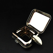 Stainless Steel Square Pocket Ashtray metal Ash Tray Ashtrays With Lids Portable