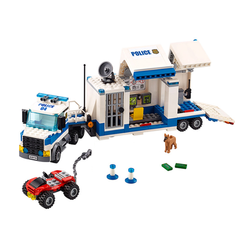 02017 City Street Police Station Mobile Command Center Building Blocks Educational Toys For Children Christmas Gift Legoings 6727 city street police station car truck building blocks bricks educational toys for children gift christmas legoings 511pcs