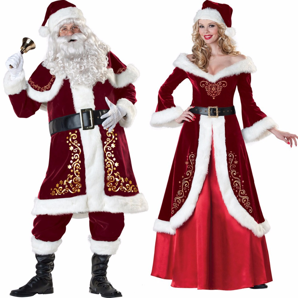 Santa Claus Costume for Adults Men Women Christmas ...