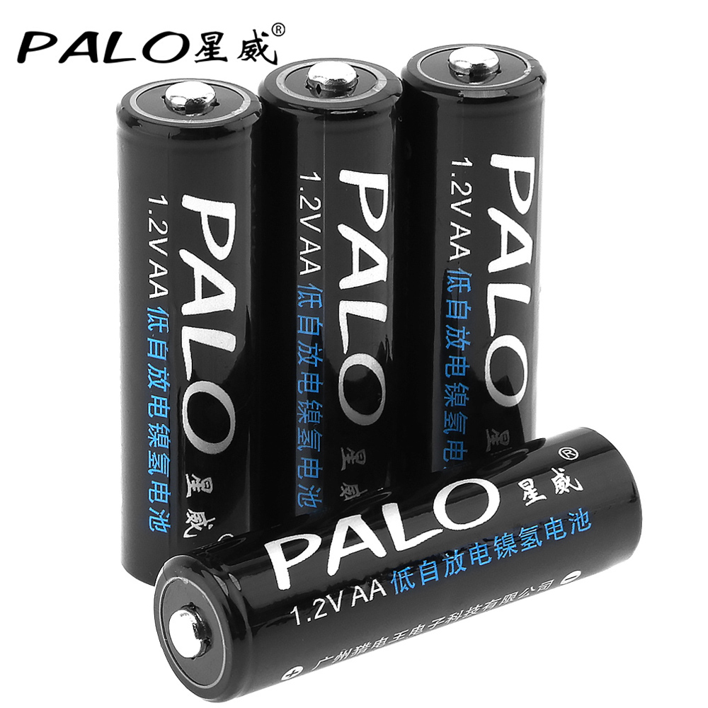 4pcs! PALO 3000mAh 1.2V AA Rechargeable Battery Ni-MH NiMH AA Battery with 5A Charging Current for Remote Control Toy Camera цены онлайн