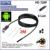 Preto 2.0MP HD 720 P 2 em 1 Android Endoscópio 8mm Lens 6 LEVOU À Prova D' Água Borescope Câmera de Inspeção com 2 m Comprimento Do Cabo USB