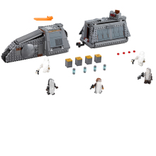 цены Serie Star War Imperial Conveyex transporte Building Blocks ladrillos Compatible Legoing 75217 ninos montado DIY