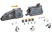 Serie Star War Imperial Conveyex transporte Building Blocks ladrillos Compatible Legoing 75217 ninos montado DIY