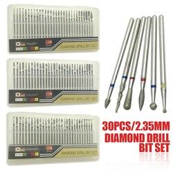 30 sztuk/zestaw diamentowe wiertło do paznokci skórek Manicure Pedicure diamentowe frez urządzenia do oczyszczania