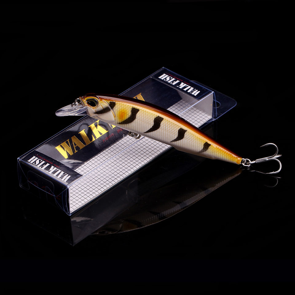 WALK FISH 1PCS 2018 New Modle Professional Fishing Lure 110mm 14g Floating Wobbler Minnow 0.8-1.2m Bass Pike Bait MUSTAD Hooks allblue slugger 65sp professional 3d shad fishing lure 65mm 6 5g suspend wobbler minnow 0 5 1 2m bass pike bait fishing tackle