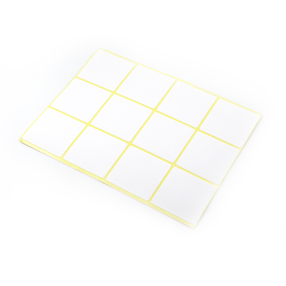 Multi Sizes DHL Paper Square White Self Adhesive Writable Name Sticker For Notes Price Code Blank Wholesale Sticky Tag Stickers недорого