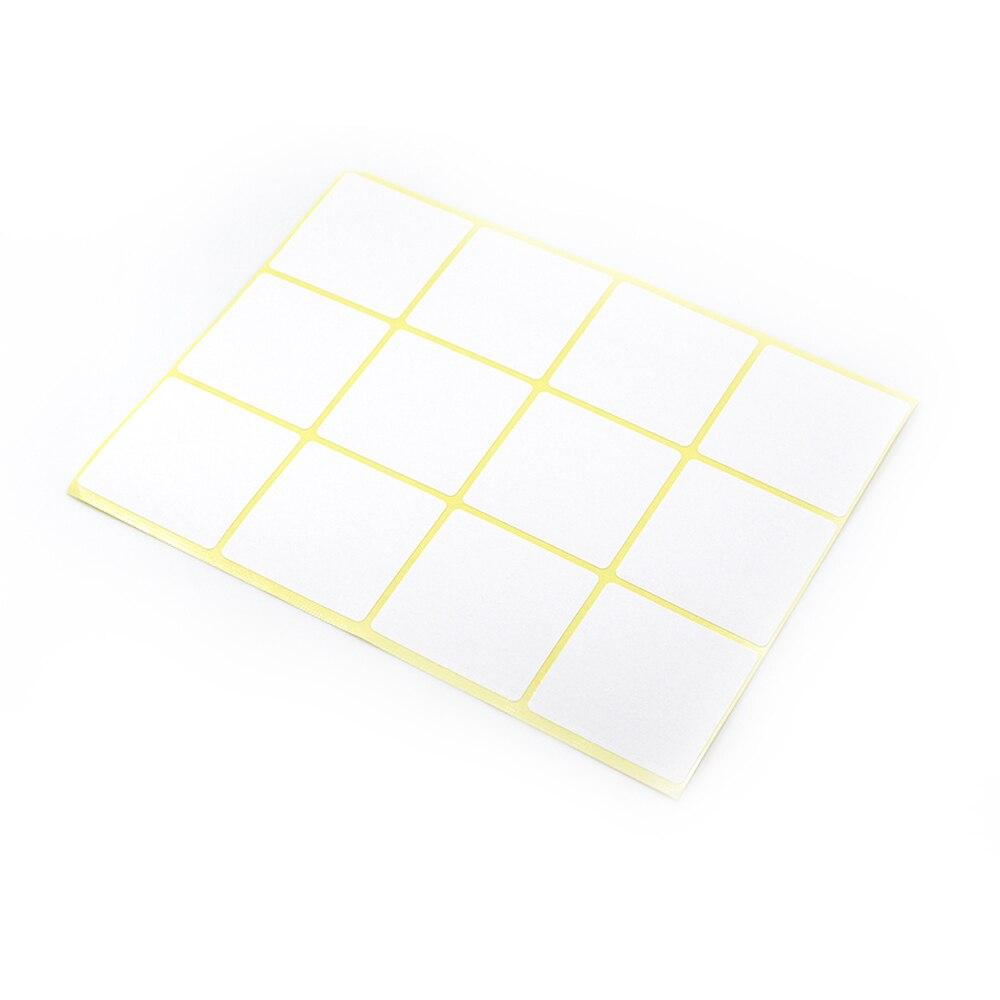 Multi tailles DHL papier carré blanc auto-adhésif inscriptible nom autocollant pour Notes prix Code blanc en gros autocollant étiquette autocollante