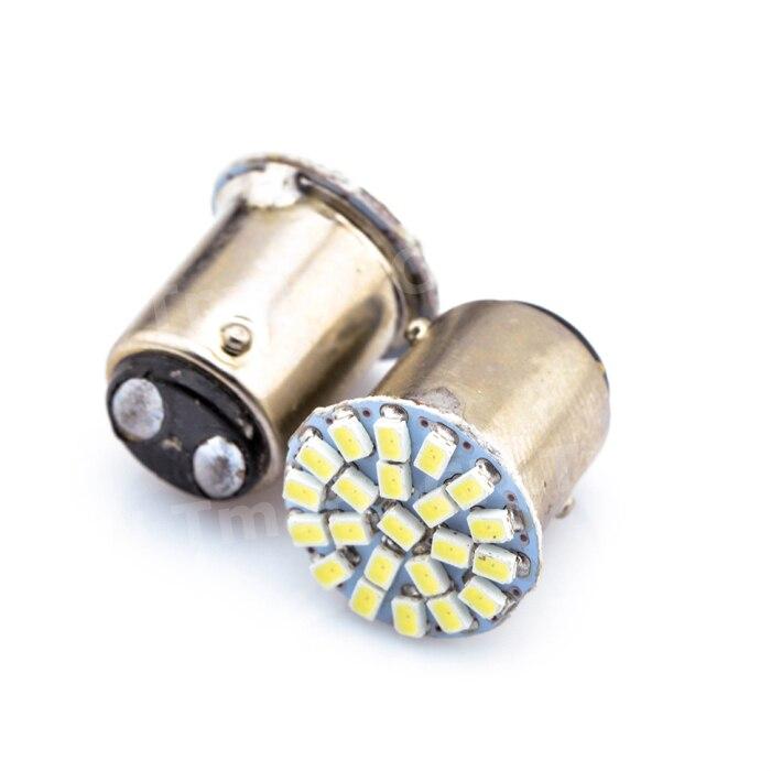 Hot Sales 1157 22 SMD 1206 BAY15D DC 12V Car LED Auto Brake Turn Signal Light Parking Lamps 22SMD 1pcs