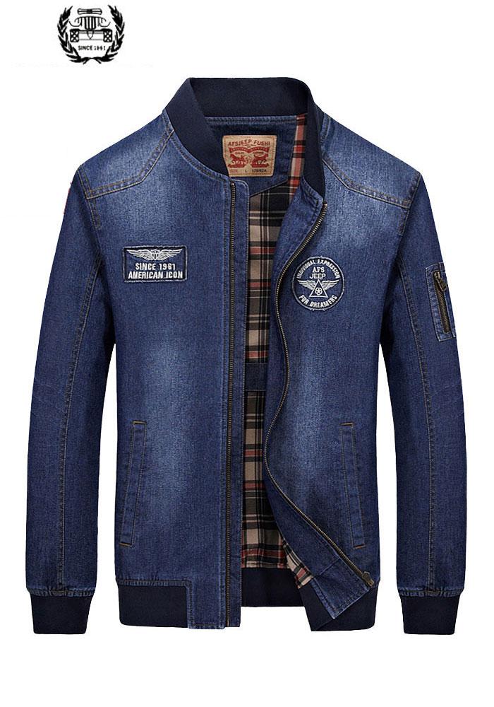 26bd68f9705 2019 новый список Осенняя брендовая одежда Мужская джинсовая куртка синяя  джинсовая мода M ~ 3XL Пальто