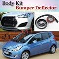 Для Hyundai ix20 ix 20 Бампер Губы/Передний Спойлер Дефлектор для TopGear Друзей Тюнинг Автомобилей Вид/Обвес/Газа юбка