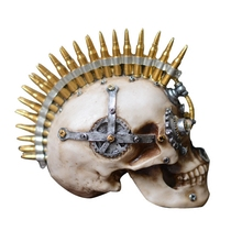 Creative Resin Craft Skull Statue&Sculpture Home Decoration Accessories Ornaments Resin Mechanical Skull Fashion Bar Decoration цена 2017