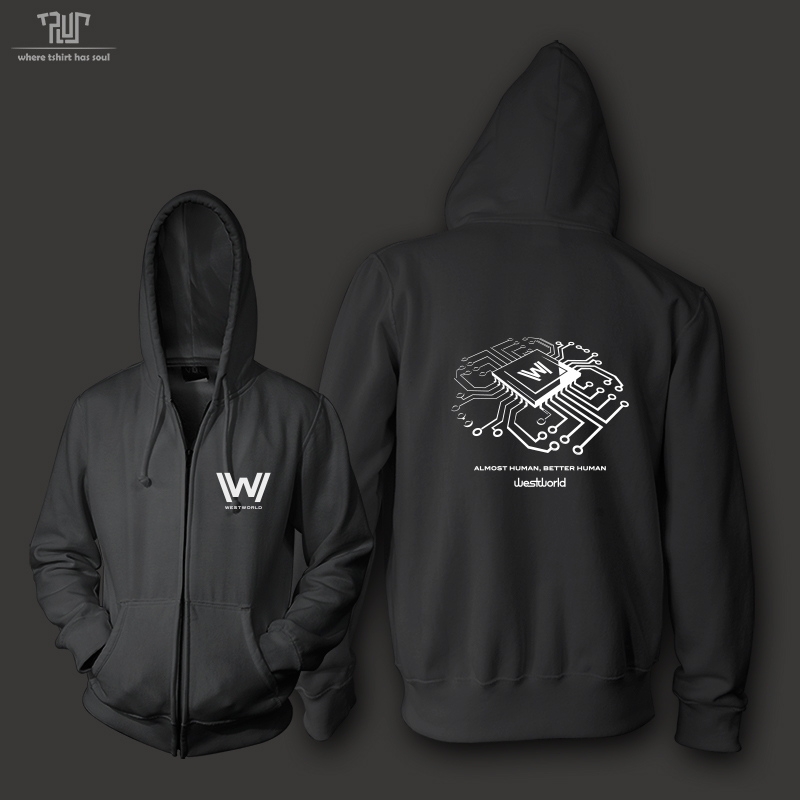 Westworld original design chest logo high quality zipup