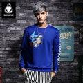 GENANX Brand Fashion Sweatshirts hoodie Space Cotton Color Printing mens thrasher Size M-XXL