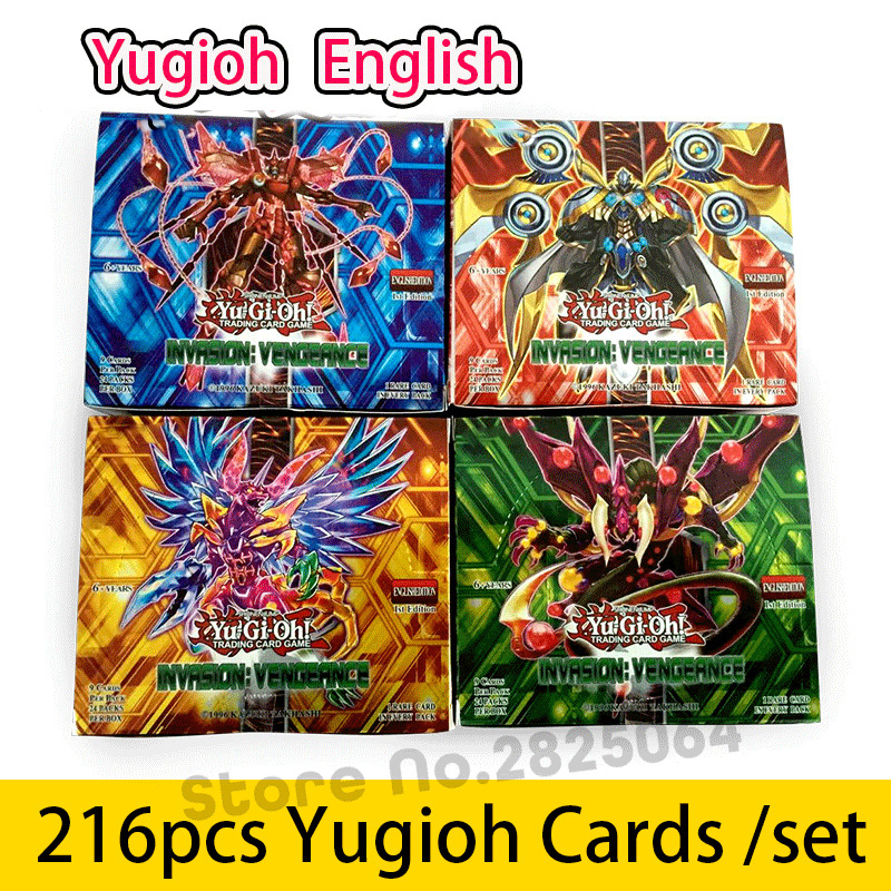 216pcs /set Yugioh Cards Kids Game Cards Toys English Version Boys Girls Yu Gi Oh Game Collection Cards Christmas Gift Brinquedo 1box lot christmas gift christmas season organ folding christmas cards paper crafts scrapbooking cards gifts decoraiton