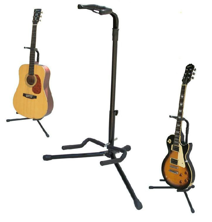 Free Shipping Black guitar stand Acoustic Guitar electric Guitar bass stand guitar parts vegas left hand natural color acoustic electric guitar free bag free shipping