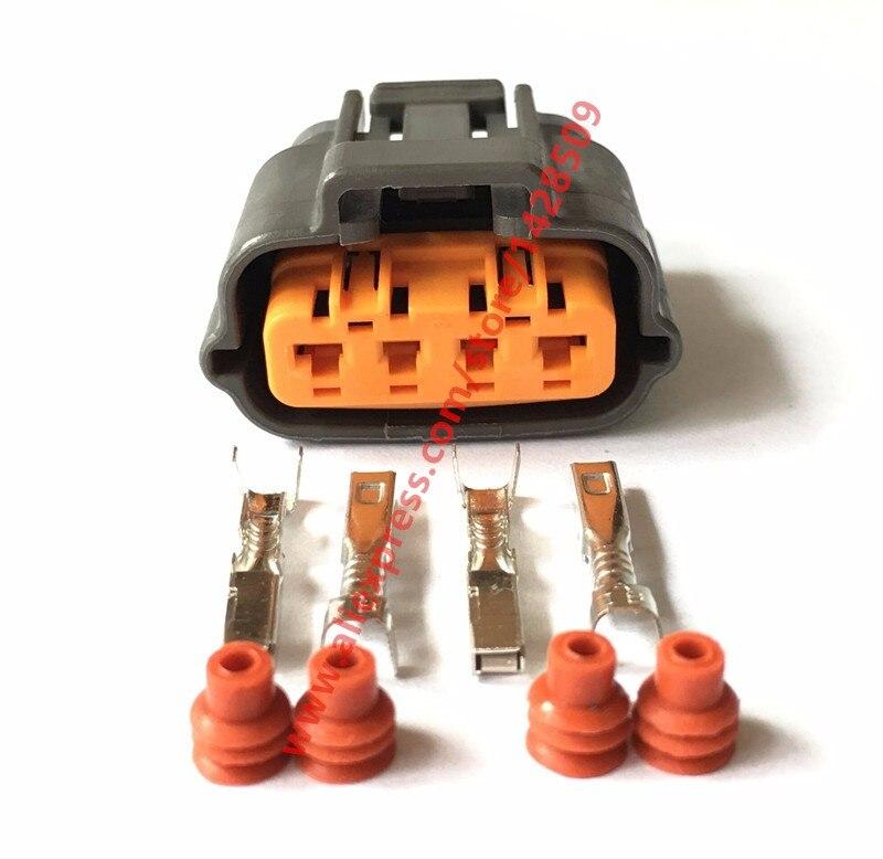 10 Sets Sumitomo 6195 0030 Throttle Position Sensor TPS Plug Automotive 4 Pin Connector For Mazda