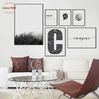 900D Posters And Prints Wall Art Canvas Painting Wall Pictures For Living Room Nordic Decoration YM006