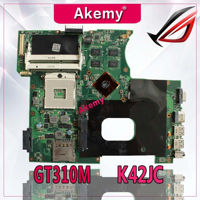 Motherboard para Asus Akemy Laptop X42j A40j K42 Teste Mainboard Original Gt310m K42jc K42j A42j