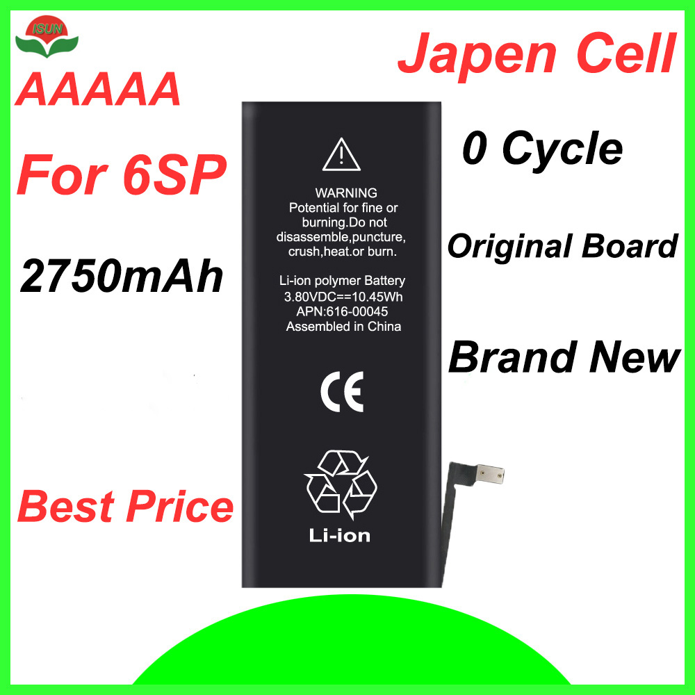Cell-Phone-Battery Battery-Repair Replacement 6splus 2750mah Original For IPhone ISUN