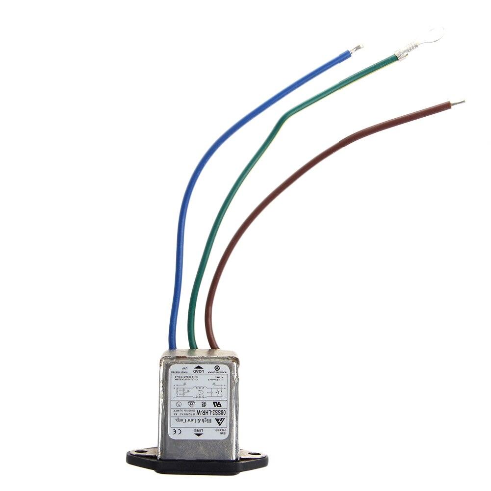 3-Pin 115/8A 220 V AC 50/60Hz Мощность разъем фильтра Панель крепление фильтра EMI