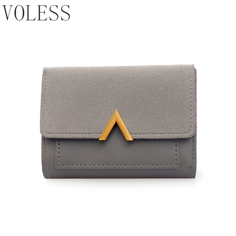 New Fashion Short V Women Wallets PU Leather Purses Female Card Holder Wallet Famous Brand  Hasp Coin Clutch Purse Bag free shipping new women s wallet cowhide genuine leather wallet for women famous brand wallet plaid shape hot cute women purses