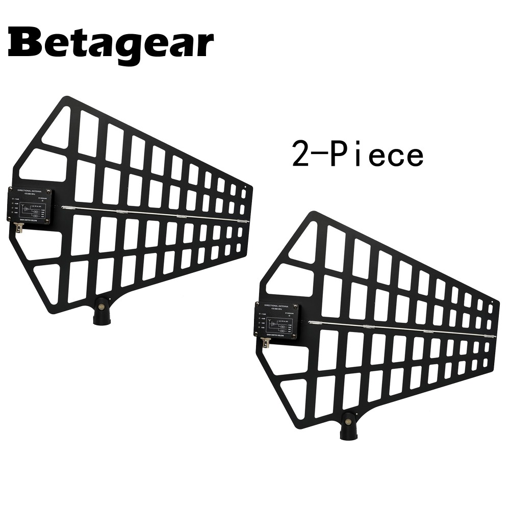 Betagear Active Directional Antenna UA874 US UHF Wireless Antenna Integrated Amp (470-950MHz) For Uhf Wireless Microphone