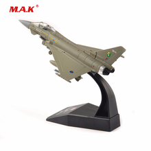 kids toys 1:100 Alloy Diecast Aircraft Airplane Model 1/100 Scale Toys UK 2008 Eurofighter model Toy for Collection boy gift assembly model trumpet hand model 1 35 ch 47a zhi ngan aircraft toys